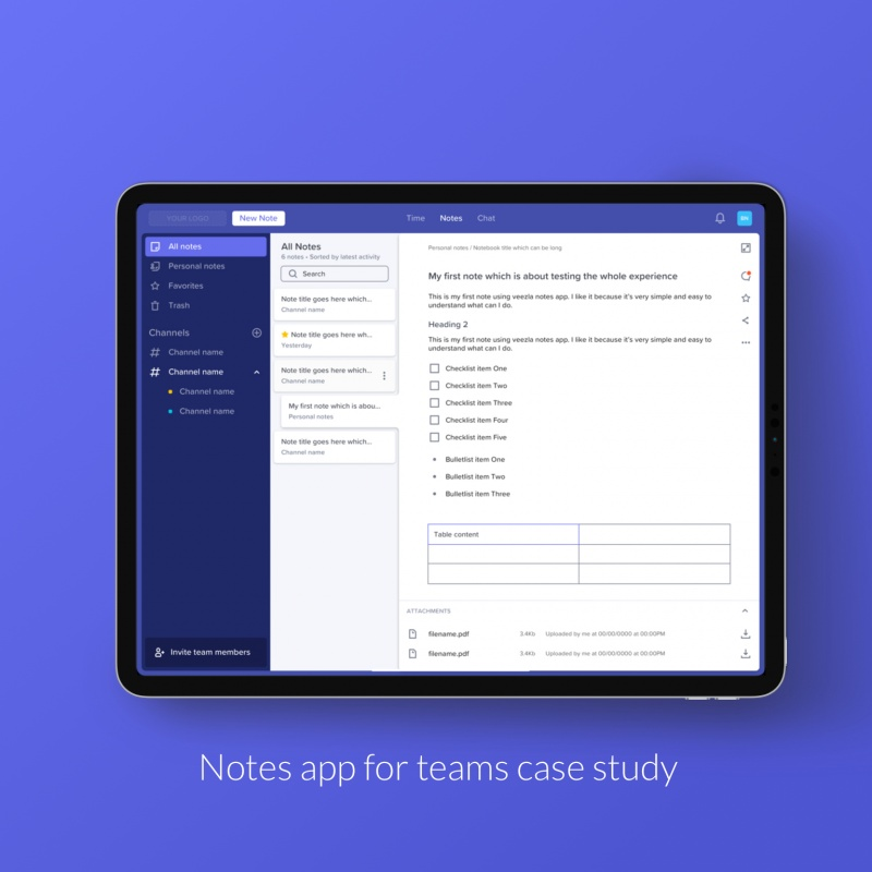 The story: Note app for teams product case study